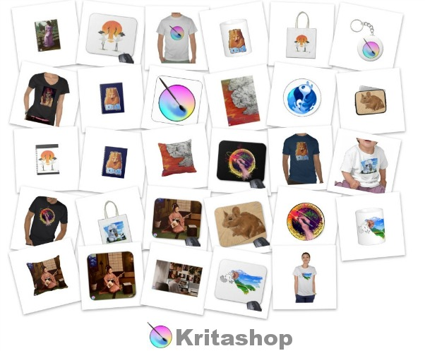 Collage of products in Kritashop