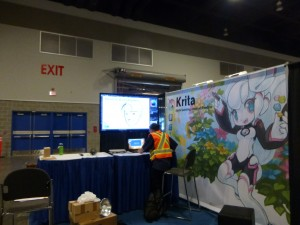 Building the Krita Booth at Siggraph 2014