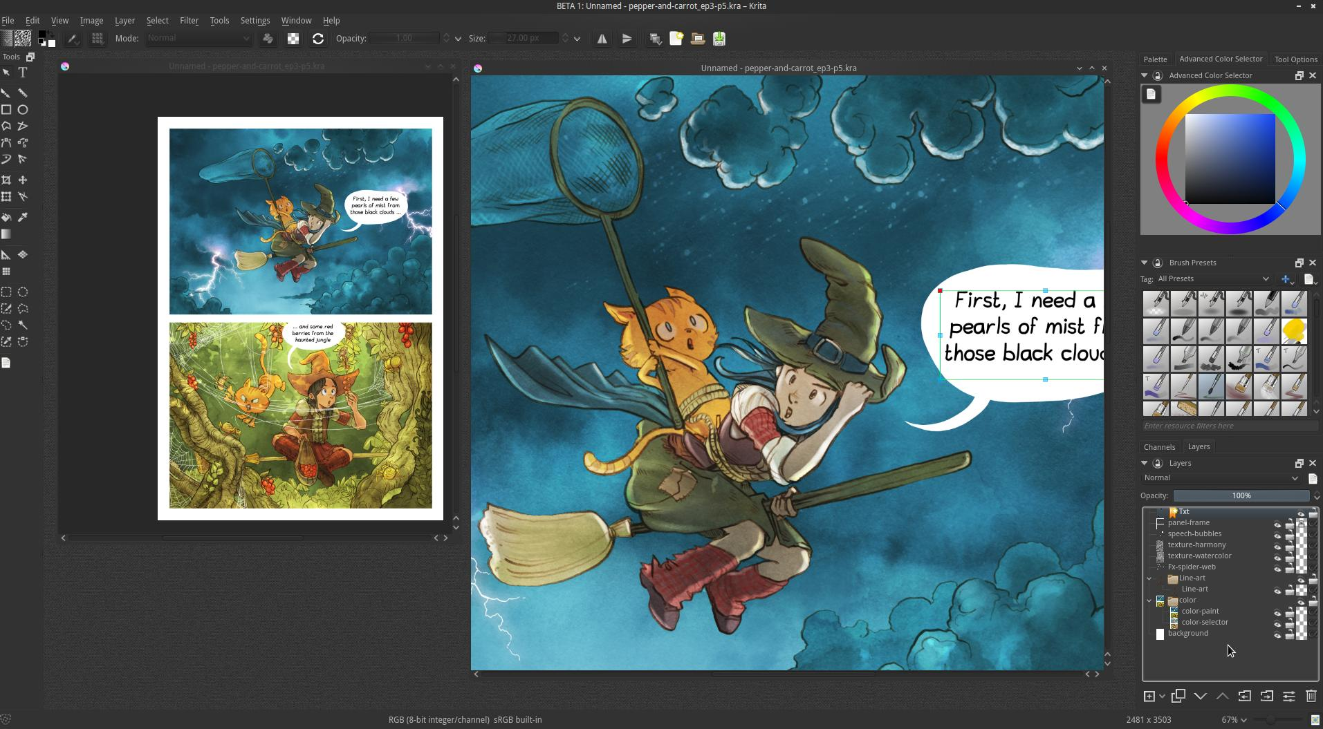 Krita 2 9 the kickstarter release krita Art design software