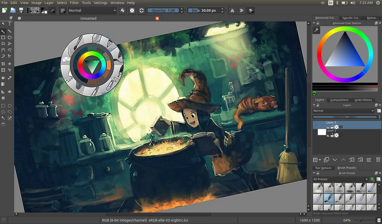Highlights krita Art design software