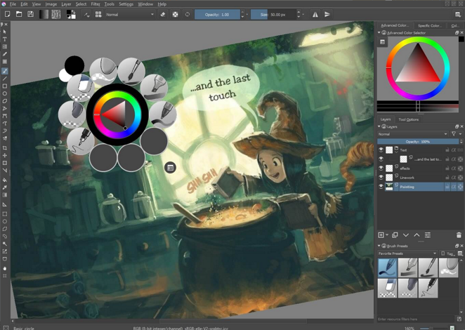Krita for Mac OS X full screenshot